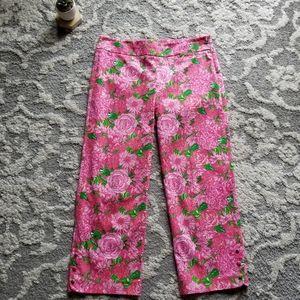 Lilly Pulitzer Kristen Palm Beach Fit Crop Size 8